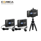 CoMica CVM-WS60 COMBO 1-Trigger-2 Flexible Mini Wireless Microphone