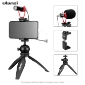 ulanzi Smartphone Video Kit 3 Inklusive Mini-Desktop-Stativ + Metall-Telefonhalter mit kalter Schuhhalterung + Videomikrofon