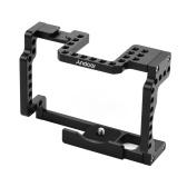 Andoer Camera Cage Rig Aleación de aluminio con zapata fría 1/4 hilo