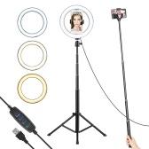 8.6 Inch/22cm Diameter 3000-6000K Bi-color 10-Level Dimmable LED Ring Video Light