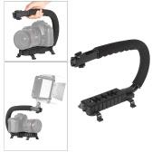 C-Shaped Video Camera ręczny uchwyt Stabilizator Wspornik systemu wsparcia dla Canon Nikon Sony DSLR Camera kamery DV Światła LED