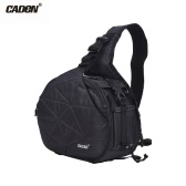CADeN K2 Triangle DSLR Camera Bag Cross Sling Carry Case Shockproof Waterproof with Tripod Holder for Canon Nikon Sony Olympus Pentax
