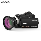 Andoer 524KM 4K 1080P 48MP WiFi Digital Videokamera