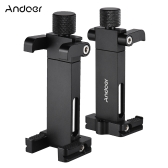 Andoer Foldable Adjustable Smartphone Metal Clip Holder Clamp Bracket