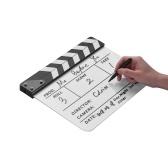 Dry Erase Acryl Direktor Film Clapboard Film TV Schnitt Aktion Szene Clapper Board Schiefer mit Filzstift, Farbstift, Weiß