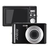 Andoer 20MP 1080P Cámara Digital FHD Videocámara con 2pcs Baterías Recargables 8X Zoom Óptico Anti-shake Pantalla LCD 2.4inch Niños regalo de Navidad