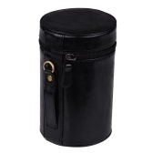 PU Leather Pouch Protective Lens Case Bag Cover Inner Size 140*85mm for Canon Nikon Sony Fuji Pentax Panasonic DSLR Universal Camera Lens Medium