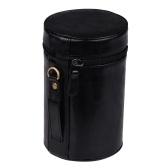 Pochette en cuir PU Housse de protection pour objectif Pochette taille intérieure 140 * 85mm pour Canon Nikon Sony Fuji Pentax Objectif Panasonic DSLR