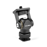 YELANGU Video Monitor Mount Mini LED Light Bracket Holder Ballhead Aluminum Alloy