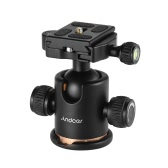 """Andoer Kamera-Stativ-Kugelkopf Kugelkopf mit Schnellwechselplatte 1/4 """"Schraube"""