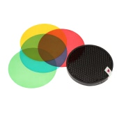 Godox AD-S11 Color Filter Gel Pack with Honeycomb Grid Cover Reflector Kit for Witstro Flash AD180 AD360