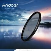 Andoer 55mm Digital Slim CPL Circular Polarizer Polarizing Glass Filter for Canon Nikon Sony DSLR Camera Lens