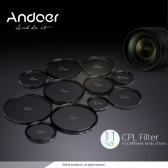 Andoer 77mm Cyfrowy Slim CPL polaryzator kołowy filtr polaryzacyjny Szkło do Canon Nikon Sony Lens DSLR Camera