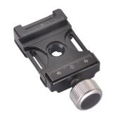 Andoer 38mm in alluminio Vite Pomello Mini Rapido Rilascio Quick Release Morsetto Compatibile con Arca Swiss per 38 millimetri QR piastra
