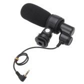 Профессиональный дробовик Q3 подержанных DV Стерео Микрофон для интервью для Canon EOS 70D 60DNikon D4 D3X D5300 D5200 D300S D3200 Цифровые фотокамеры DV