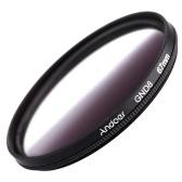 Andoer 67mm forme circulaire a obtenu son diplôme de gradué gris filtre à densité neutre GND8 pour Canon Nikon DSLR appareil photo