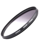 Andeor 77mm Circular Shape Graduated Neutral Density GND8 Graduated Gray Filter for Canon Nikon DSLR Camera
