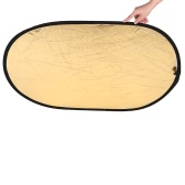 """23.6 * 35.4""""/60 * 90cm Handhold Multi Collapsible Portable Ellipse Light Reflector for Photography 2in1 Gold and Silver"""