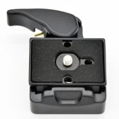Camera 323 Quick Release Clamp Adapter + Quick Release Plate Compatible for Manfrotto 200PL-14 Compat Plate