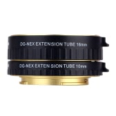 Macro AF Auto Focus Extension DG Tube 10mm 16mm Set Ring Metal Mount Support Full Frame for Sony E-mout NEX NEX-6 A7R A3000