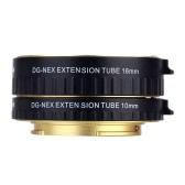 Macro AF Auto Focus Extension DG Tube 10mm 16mm Ring Set métal monter le Support Full Frame pour Sony E-mout NEX NEX-6 A7R A3000