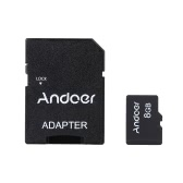 Andoer 8GB Class 10 Speicherkarte TF Karte + Adapter + Kartenleser USB Flash Drive