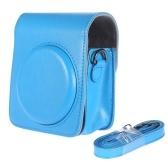 Bolsa de cuero clásica de la PU de la vendimia de la segunda mano del bolso para la cámara instantánea de la película de Fujifilm Instax Mini 70 con la correa de hombro