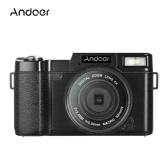 """Andoer R1 1080P 15fps Full HD 24MP Digitalkamera Cam Camcorder 3,0 """"drehbarer LCD-Bildschirm Anti-Shake 4X Digitalzoom Einziehbare Taschenlampe mit UV-Filter"""