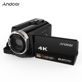 Second Hand Andoer HDV-534K 4K 48MP WiFi Digital Video Camera 1080P Full HD Novatek 96660 Chip 3inch Capacitive Touchscreen IR Infrared Night Sight Support 16X Zoom Face Detect