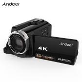 Andoer HDV-534K 4K 48MP WiFi Digitale Videokamera 1080P Full HD Novatek 96660 Chip 3 Zoll Kapazitiver Touchscreen IR Infrarot-Nachtsicht-Unterstützung 16X Zoom Face Detect