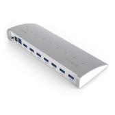 dodocool 7 puertos USB 3.0 HUB para iMac Macbook Superspeed 5 Gbps adaptador de CA externo