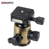 TRIOPO B-2 Statyw głowica kulowa Głowa panoramy 360 stopni Głowa W / Wbudowana poziomów Podwójne Spirit & zapadki zabezpieczającej dla DSLR aparaty Max 8kg obciążenia