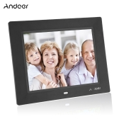 Andoer 8 '' Ultrathin HD TFT-LCD Cadre photo numérique réveil MP3 MP4 Movie Player avec Remote Desktop