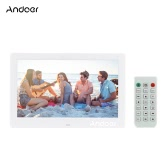 "Andoer 10.1 ""LCD Digital Photo Frame Alarm Clock MP3 MP4 Movie Player 1024 * 600 HD avec télécommande"