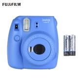 Fujifilm Instax Mini 9セルフミラー付き即時カメラフィルムカム2個電池、アイスブルー