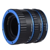 Andoer Colorful Metal TTL Auto Focus AF Macro Extension Tube Ring for Canon EOS EF EF-S 60D 7D 5D II 550D Blue