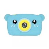 1080P / 30FPS мини-детская камера 2,0-дюймовый большой экран IPS дисплей милый мультфильм животных внешний вид камера с для детей мальчики девочки