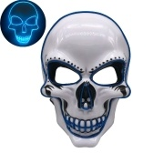 Maschera per feste di Halloween LED Scary Flash Mask EL Line Light Mask Cosplay Mask Maschera per abbigliamento da festa