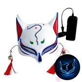10 Color Fox Half Face Mask Neon Lights