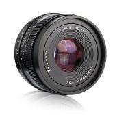 7artisans 50mm F1.8 Lente Da Câmera de Foco Manual Grande abertura para Olympus Epm2 / E-PL7 / E-PL8 / E-P5 / E-P6 para Panasonic G5 / G6 / G7 / GF5 / GF6 / GM10 / GH4 / GH5 M4 / 3 -Montar Câmeras Mirrorless