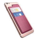 dodocool Ultra-slim Self Adhesive Posiadacz karty kredytowej 2 Slot Stick-on Wallet dla iPhone 7 Plus / 7 / 6s Plus / 6s / 6 Plus / 6 Smartfonów Rose Red