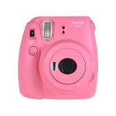 Fujifilm Instax Mini 9 Instant Camera Film Cam with Selfie Mirror, Smokey White