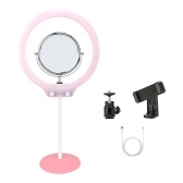 ZOMEI ZM128 Portable Camera Photo Studio Phone Video 128 LED Ring Light 3200K-5600K Bi-color Dimmable Beautify Lamp with Mirror and Phone Clamp for iPhone X/8/7 Plus for Canon Nikon Sony DSLR