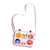 Kids Cartoon Camera Bag Cute Messenger Bag Waterproof Lightweight Single-shoulder Bag Birthday Festival Gift for Children Boys Grils