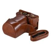 Wysokiej jakości torba na aparat fotograficzny PU na torby Pokrowiec na całej długości z regulowanym paskiem na szyję dla Canon EOS M6