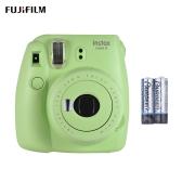 Fujifilm Instax Mini 9 Instant Camera Film Cam with Selfie Mirror 2pcs Battery, Ice Blue