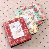 Standard 3in Centerfold Photo Album PU 64 Pockets Albums Photos Storage Case Floral Memory Souvenir