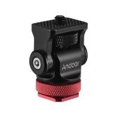 Andoer 180 ° Rotary Mini Ball Head Kugelkopf Blitzschuh-Montageadapter 1/4 Zoll Schraube mit Schlüssel für DSLR-Kamera Mikrofon LED-Videolicht Monitor Stativ Einbeinstativ