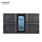 Andoer NP-FW50 NPFW50 4チャンネルデジタルカメラ充電池、ソニーα7α7Rα7sIIα7IIα6500A6300α7RIINEXシリーズ用