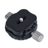 Andoer PAN-C1 Panoramiczna głowica statywu Clamp Adapter Stop aluminium z płytą Quick Release do płyt Arca-Swiss AS Standard QR